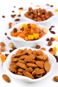 Almond with dried fruit and nuts